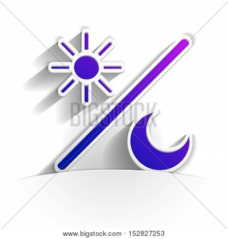 brightness icon in paper style full vector
