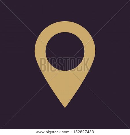 The pointer icon. Navigation and location symbol. Flat Vector illustration