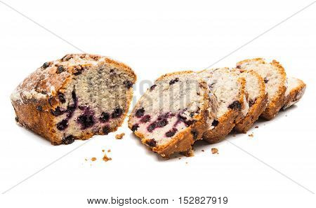 blueberry pie strawberry, dessert on a white background
