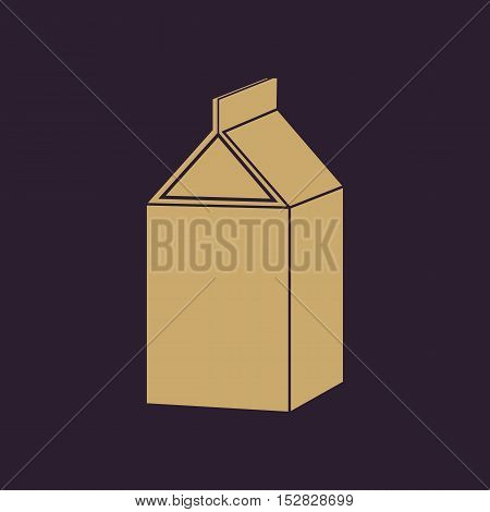 The milk box icon. Packing and container symbol. Flat Vector illustration