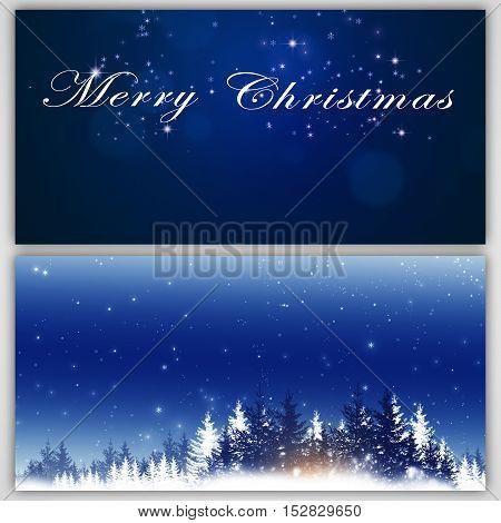 Winter Christmas Holiday Banners