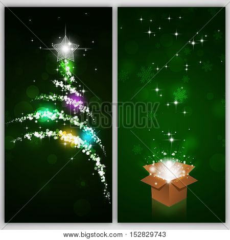 Winter Green Holiday Banners