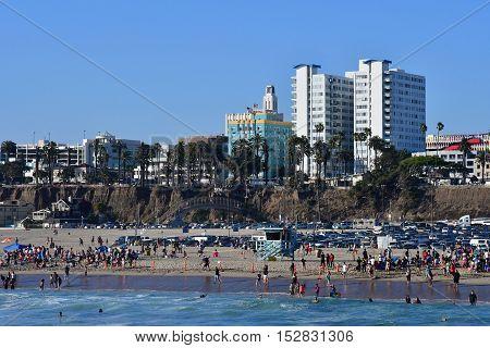 Santa Monica California USA - july 15 2016 : the seaside city in summer