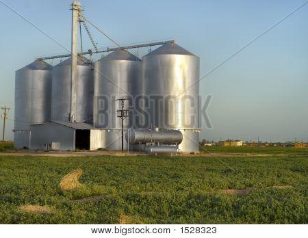 Farmland silos