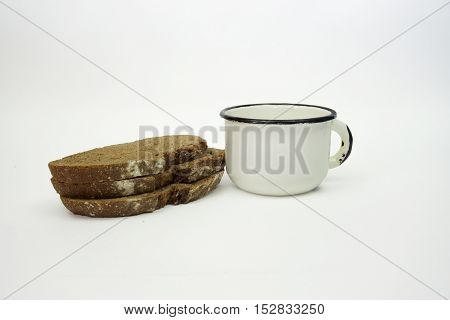 Isolate Bread Loaf On A White Background Flour Products On A White Background
