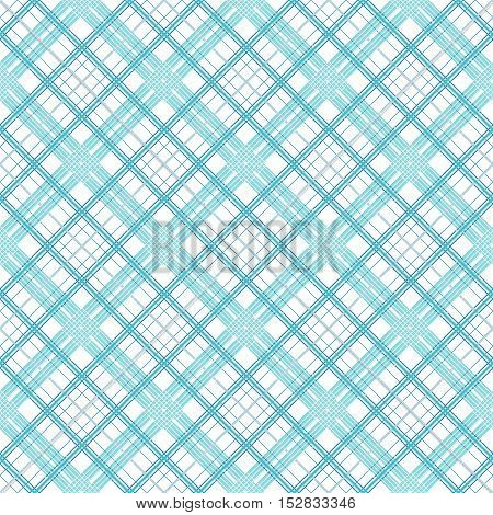 Seamless simple pattern of blue lines of varying thickness on a white background.