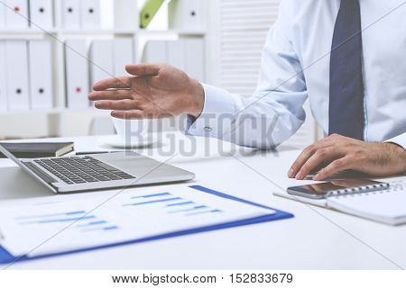 Businessman Gesticulating