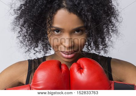 Woman Boxer From Africa