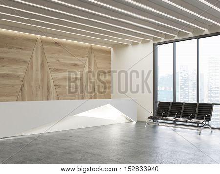 Waiting Area With Original Reception Desk