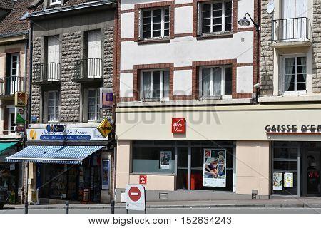 Neufchatel en Bray France - june 23 2016 : the city in summer