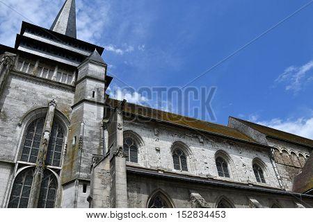 Neufchatel en Bray France - june 23 2016 : the Notre Damme church
