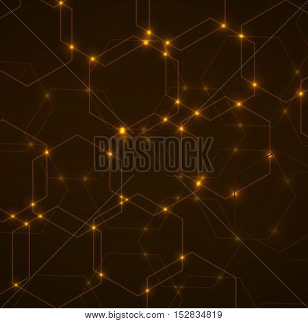 Abstract background of hexagonal cells, geometric design