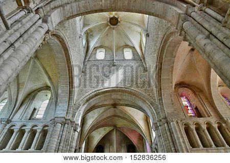 Saint Martin de Boscherville France - june 22 2016 : the Saint Georges abbey in Seine Maritime