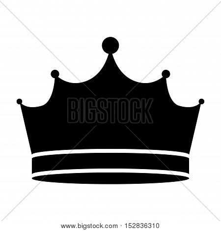 king crown royal jewelry accessory icon silhouette. vector illustration