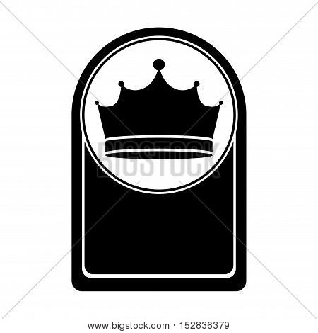 card with king crown icon. royal jewelry accessory silhouette. vector illustration