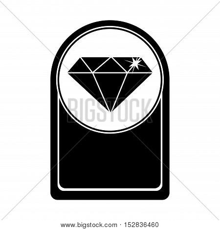 card with Diamond icon inside. gem jewelry and stone theme. Isolated design. Vector illustration