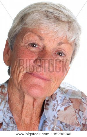 Portrait of a seventy year woman.