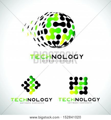 Technology Logo. Technology Logo Icon Vector. Technology Corporate Identity.