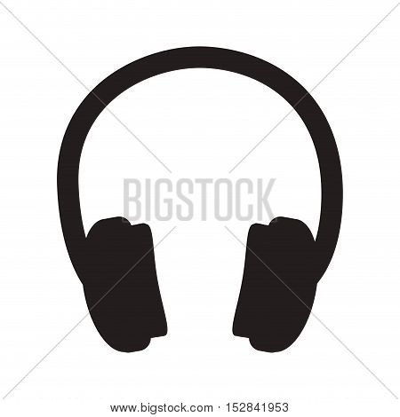 headphone audio technology device icon over white background. vector illustration