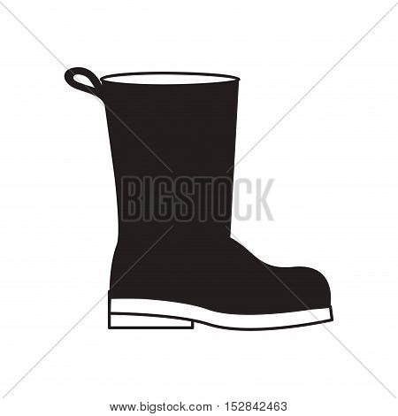 industrial security boots protection equipment over white background. vector illustration