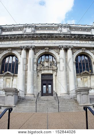 Washington DC.- Oct 4th 2016. Carnegie Library the Old Washington DC Public Library.