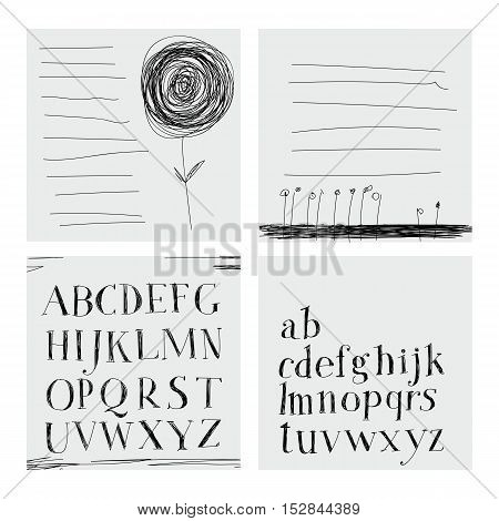 Hand Drawing Alphabet.
