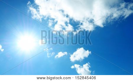 Sky Blue and abstract cloud beautiful white color nature landscape background.