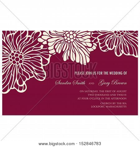 Invitation or greeting floral card. Background. Vector illustration