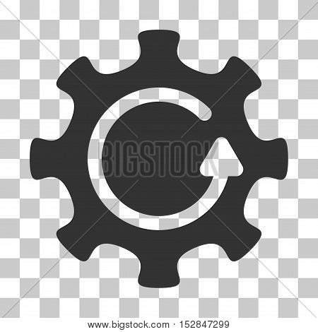 Gray Cog Rotation Direction interface pictogram. Vector pictograph style is a flat symbol on chess transparent background.