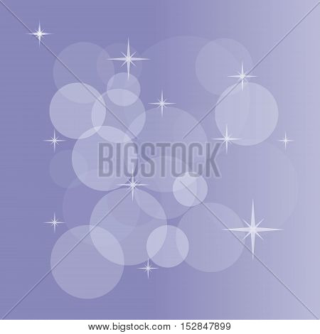 Abstract vector background with bokeh, light flares, stars and other elements. Color illustration for creating printed materials and web design. Blurry bubble light wallpaper.