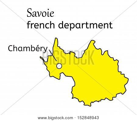 Savoie french department map on white in vector