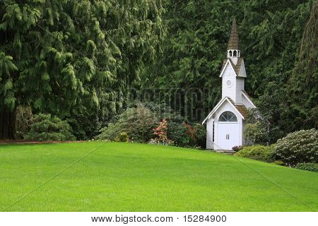 Little chapel in the park.