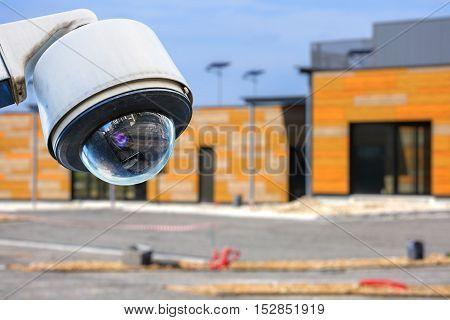 Cctv Camera Construction Site