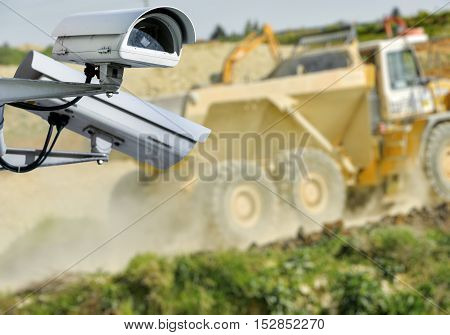 Cctv Camera Construction Site