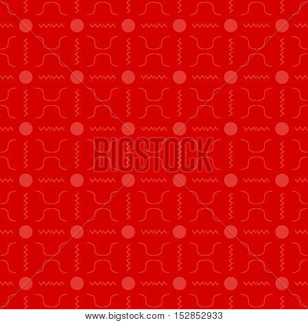 Seamless colored pattern in vector. Red background.