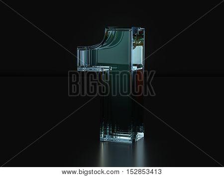 Glass Number 1  3D Illustration