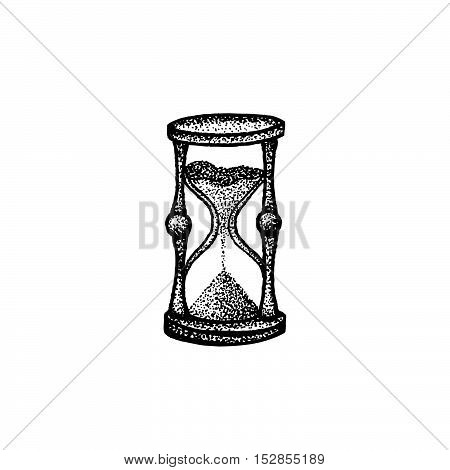 Vector Hand Drawn Sandglass Illustration.