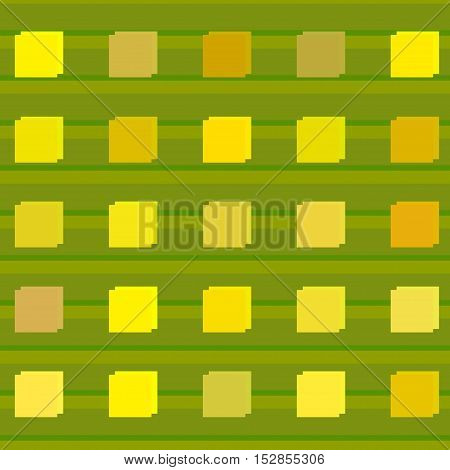 Seamless abstract yellow square color style pattern. Vector illustration