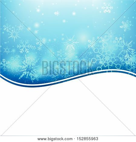 Snow fall with bokeh and lighting element abstract background vector illustration eps10