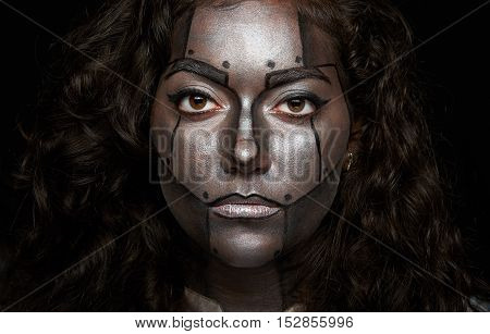 Close Up Of Women Face