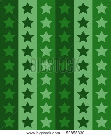 Vintage star pattern. Seamless vector background. Green color.