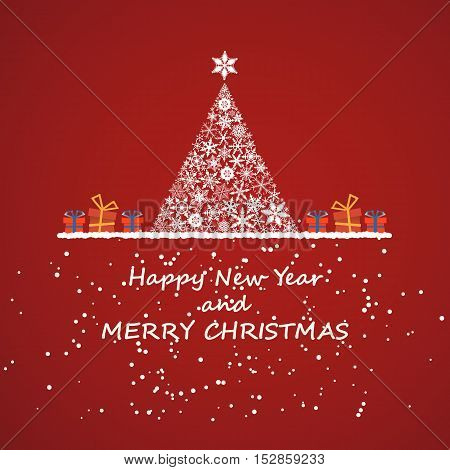 merry christmas and new year, invitation background