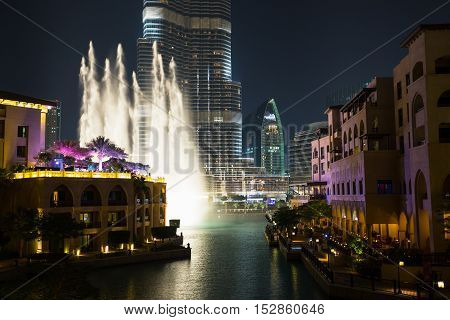 Record-setting Fountain System Set On Burj Khalifa