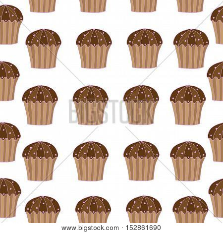 Seamless pattern with cake for banner card invitation textile fabric wrapping paper.