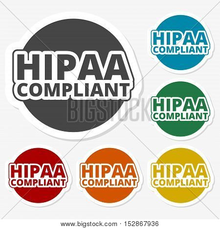 Multicolored paper stickers - HIPAA, Health Insurance Portability and Accountability Act
