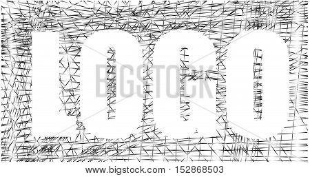 Inverse logo design contrast silver net graphic vector