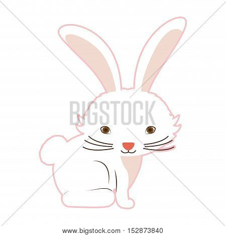 Rabbit icon. Animal cartoon and easter theme. Isolated design. Vector illustration