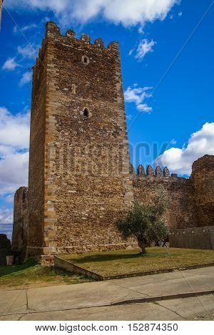 Castle In Laguna De Negrillos, Castilla Y Leon, Spain