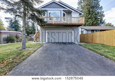 Exterior Of Two Story Clapboard Siding House