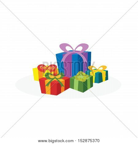 Christmas concept by have many gift box.